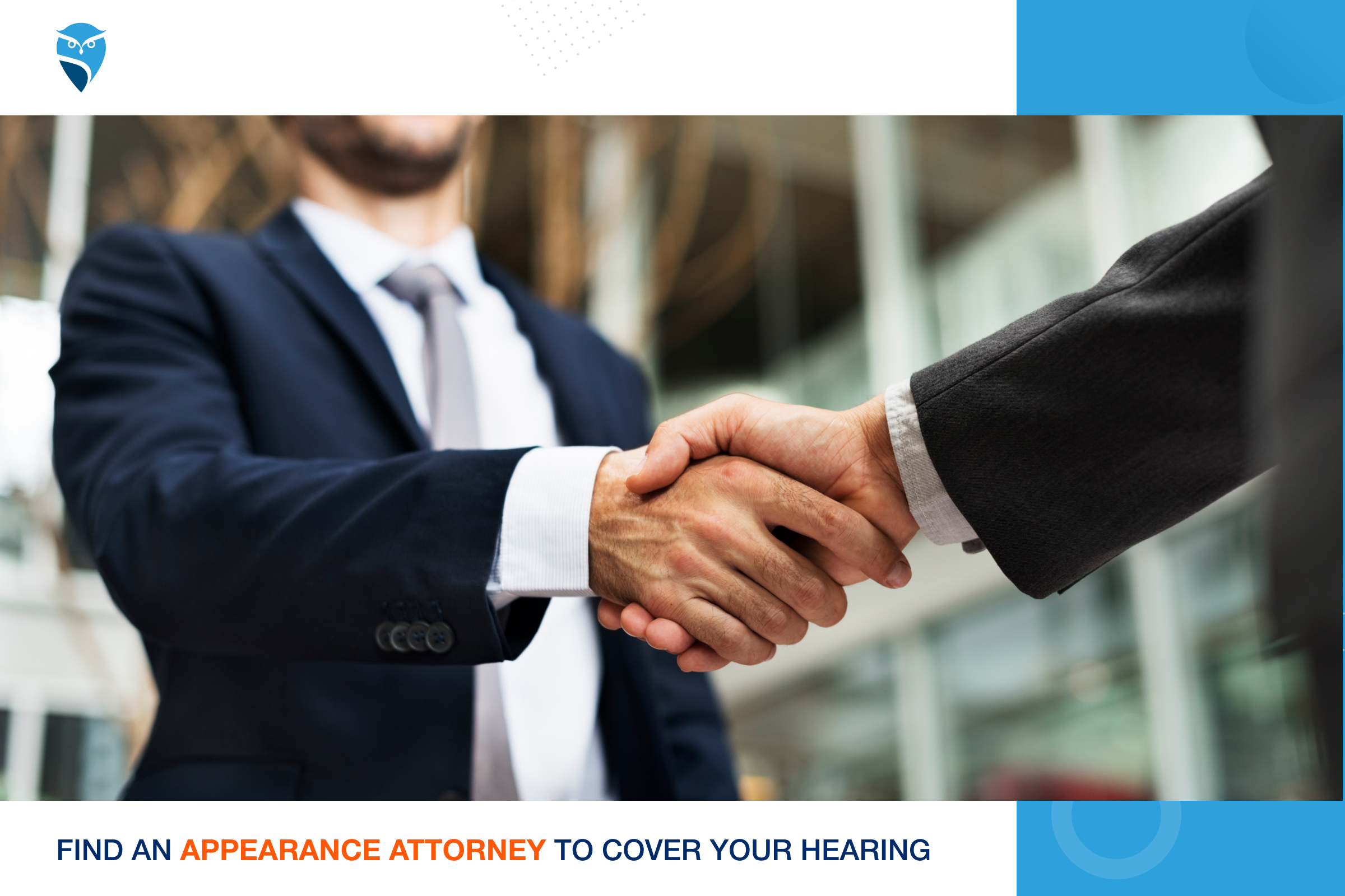 Find an Appearance Attorney to Cover your Hearing